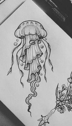 Jellyfish Drawing, Jellyfish Painting, Jellyfish Quotes, Jellyfish Aquarium, Jellyfish Sting, Jellyfish Facts, Watercolor Jellyfish, Jellyfish Tattoo, Squid Drawing