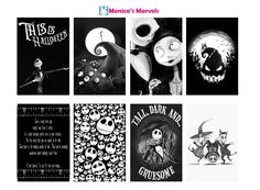"""sticker kit"" Nightmare Before Christmas Fullboxes  (the happy planner by MAMBI) sticker. Free printable sticker layout may be subject to copyright not intended for retail; personal use only"