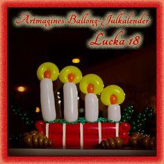 Artmagines Ballong-Julkalender Lucka 18: Det fjärde ballong-ljuset tänds och vi kommer närmare jul för varje dag som går. Vi gör en ny ballong-kreation varje dag fram till jul!