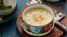 Chicken sweet corn and rice soup recipe - 9Kitchen