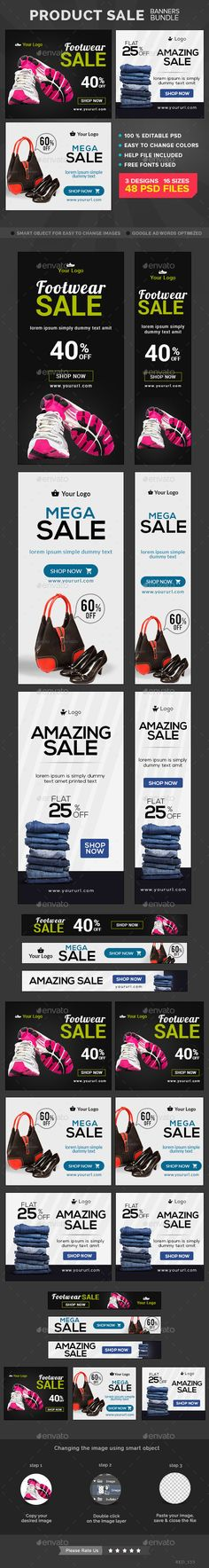 Product Sale Banners Bundle Templates #design Download: http://graphicriver.net/item/product-sale-banners-bundle/11342239?ref=ksioks