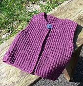 Ravelry: Gilet Claie Col Rond pattern by Camille Coizy