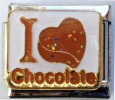 I Love (Heart) Chocolate Italian Charm