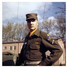 US Army Private First Class Elvis Presley at Grafenwoehr Training Grounds…