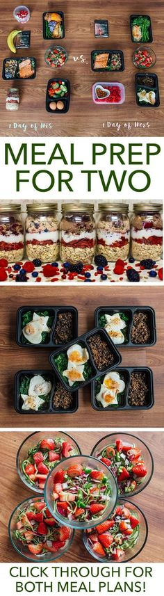 Meal prep is more fun when you have a partner in the kitchen. Make this week extra special with this meal prep plan for two. // meal prep mondays // meal planning // healthy foods // couples // relationships // valentine (Shed Plans 30 Diet) Meal Prep Plans, Diet Meal Plans, T25 Meal Plan, Healthy Meal Prep, Healthy Snacks, Eat Healthy, Healthy Meal Planning, Healthy Recipes For Two, Healthy Dinners For Two