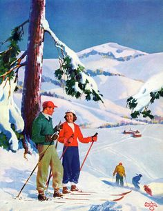 Ski Break by Charles Hargens Painting Print on Canvas