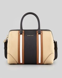 77c42206b26f GIVENCHY Medium LUCREZIA Duffle Bag in Colorblock Beige 13E5810-113   givenchy Magic Bag