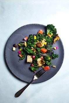 Warm Rainbow Chard and Bacon Salad