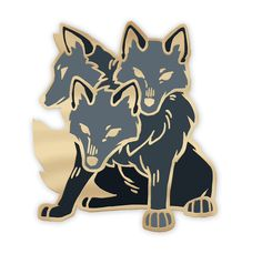 """Ever wanted to have your very own three-headed doggo? With this 1.25"""" hard enamel pin you can make such a dream your reality! This precious pup will stand guard wherever you station him - on your jacket lapel/handbag/flower crown! Free USA shipping!"""