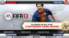 FIFA 13 football game available also as iOS app for mobile devices