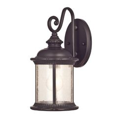 Westinghouse 6230600 New Haven One-Light Exterior Wall Lantern on Steel with Clear Seeded Glass, Oil Rubbed Bronze - Lighting Fixtures Store Outdoor Ceiling Fans, Outdoor Wall Lantern, Outdoor Walls, Outdoor Spaces, Outdoor Wall Lighting, Exterior Lighting, Wall Sconce Lighting, Lighting Ideas, Lantern Lighting