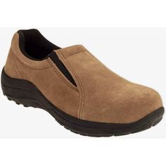 Brahma Unisex Dungun Steel Toe Slip On Low Work Shoe, Size: 8.50, Brown