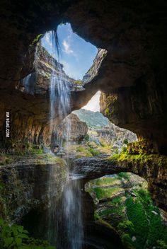Three Bridges Cave, Lebanon.
