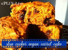 slow cooker vegan carrot cake