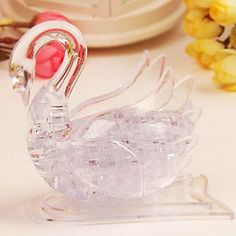 Crystal Swan - 3D Crystal Puzzle Swan Transparent & Pure Swan