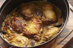 Moroccan Chicken Tagine with Figs and Apricots recipe on Food52