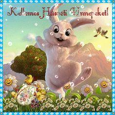 Glitteres húsvéti képeslap képeslapok