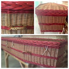 Bespoke order - red band willow coffin #coffin #willowcoffin #eco #ecofuneral