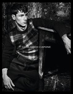 Guglielmo Capone advertising campaign fall-winter 2014/15 Photo: Bruno Van Mossevelde Model: Nicolas Ripoll Styling: Andrea Tenerani