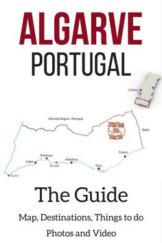 Guide to the Algarve Portugal - Map, Best beaches, top things to do, destinations, accommodations. With Photos and video! Portugal Algarve Algarve Beach Portugal things to do Video Portugal, Faro Portugal, Spain And Portugal, Portugal Vacation, Portugal Travel Guide, Portugal Trip, Lagos Portugal Beach, Best Beaches In Portugal, Fatima Portugal