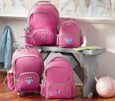 I love the Fairfax Pink Backpacks on potterybarnkids.com