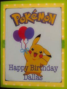 Kids Pokemon Birthday Cardhomemade