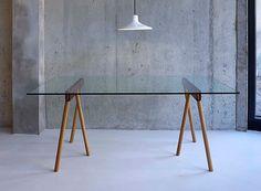parsonsees: (via Crosscut Trestle Legs — Desk/Work — Better Living Through Design)