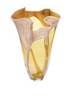Jozefina Art Glass Amore Vase, Amber/Marble, http://www.myhabit.com/redirect/ref=qd_sw_dp_pi_li?url=http%3A%2F%2Fwww.myhabit.com%2Fdp%2FB00LPD7TB4%3Frefcust%3DZ3SQTAZMLD45D7O4FVZEJWKUQ4