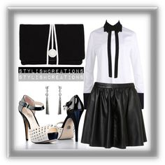 """""""White & Black"""" by athomemommy ❤ liked on Polyvore"""