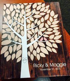 Richwood Wedding Tree Canvas | Guest Book Alternative | Customer Photo | Rustic Wedding | Peachwik.com