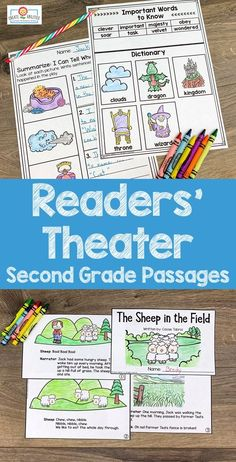 Readers' Theater Passages 2ND GRADE - This 289 page download includes ten readers' theatre plays in two different formats. Great for literacy centers, partner work, shared reading, fluency groups, and more. These are professionally leveled by Lexile. Click through to see how to use these with your second graders in the classroom or homeschool setting. #ReadersTheatre #SecondGrade Reading Fluency, Guided Reading, Farmers Walk, Theatre Plays, Lexile, Readers Theater, 2nd Grade Classroom, Shared Reading, Comprehension Questions