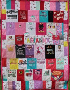 Baby clothes quilts are keepsake blankets made from outfits and special pieces of clothing worn during the early years. Used Baby Clothes, Baby Clothes Quilt, Baby Memory Quilt, Baby Quilts, Keepsake Quilting, Baby Memories, Holiday Decor, Crafts, Konmari