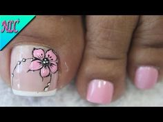 Heat Up Your Life with Some Stunning Summer Nail Art Flower Toe Nails, Cute Toe Nails, Flower Nail Art, Feet Nail Design, New Nail Art Design, Toe Nail Designs, Pedicure Nail Art, Toe Nail Art, Manicure