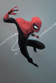Grew up an enormous fan of Spidey. I realised I havnt drawn him in an age so I though Id remedy that.