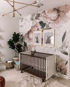 Ideas for a boho nursery neutral - Baby Room Ideas Boho Nursery, Nursery Neutral, Nursery Room, Girl Nursery, Nursery Decor, Neutral Nurseries, Flower Nursery, Nursery Modern, White Nursery