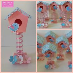 Cd Crafts, Preschool Crafts, Diy And Crafts, Crafts For Kids, Arts And Crafts, Paper Crafts, Baby Shower Game Prizes, Bird Birthday Parties, Bird Houses Painted