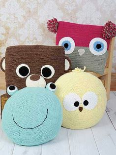 Crochet pillow animals Más