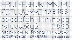 Free backstitch alphabet