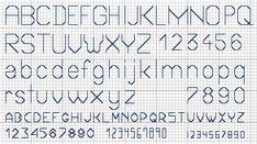 "Free Cross Stitch Pattern ""Small Alphabets"""