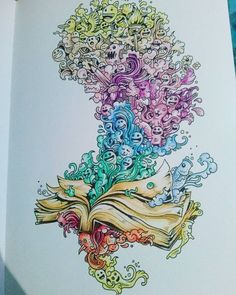 Antistresscoloringbook Ziffin Doodle Doodleinvasion Relax Colorful Coloring Antystresowa More Information Invasion