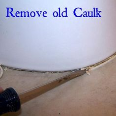 How to Quickly Fix the Dirty Caulk {Around Your Toilet Bowl!}