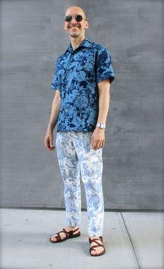 Liberty of London shirt and toile pants.  #moodfabrics, #libertyoflondon