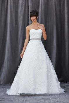 STYLE # FLEUR  Available Colours: White, Ivory   Appliqués available in Ivory only.  Gown Shown in Ivory.