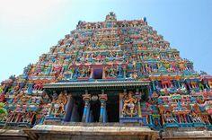 Madurai Photos - Pic 4311 The gopuram of the famous Madhurai Meenakshi Temple in Tamil Nadu..