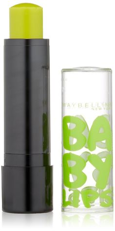 Maybelline New York Baby Lips Balm Electro, Minty Sheer, 0.15 Ounce (Pack of 2). No More Basic Lip Balm!. Clinical Care With A Neon Kick. 8hr Moisture.