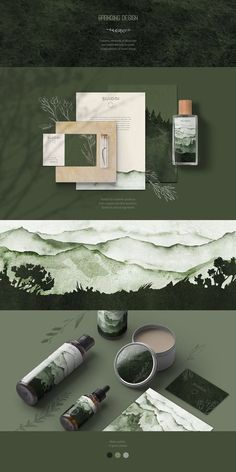 natur design Rustic and woodsy packaging design and stationery for a whimsical brand created with greenery, watercolor woodland illustrations and botanical drawings. A nature bound and whimsical brand identity. Crea Design, Graphisches Design, Logo Design, Brand Identity Design, Brand Design, Rustic Design, Luxury Graphic Design, Design System, 2020 Design
