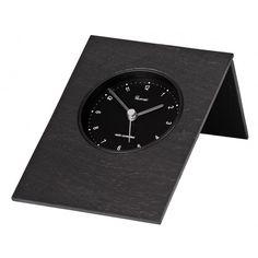 Tischuhr funkgesteuert 14 x 19 cm Schieferuhr - Motivationsgeschenke