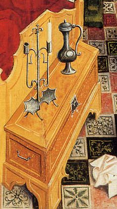 Oberrheinischer Meister: Die Geburt Mariens. Um 1460/65. Wohnverhältnisse