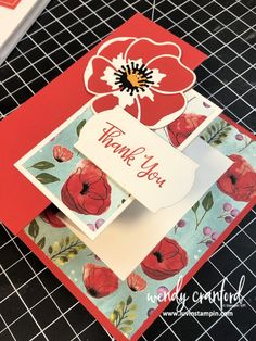 Stampin' UP! Painted Poppies Bundle Double Z Fold Card Double Z Fun Fold card featuring the Stampin' UP! Painted Poppies bundle from the Stampin' UP 2020 Mini Catalog Fun Fold Cards, Folded Cards, 3d Cards, Card Making Tutorials, Making Ideas, Poppy Cards, Stampin Up Catalog, Scrapbooking, Stamping Up Cards