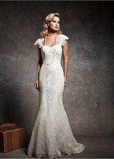 ELEGANT LACE CHIFFON SATIN SWEETHEART NECKLINE TRUMPET WEDDING DRESS FORMAL PROM EVENING PARTY GOWN